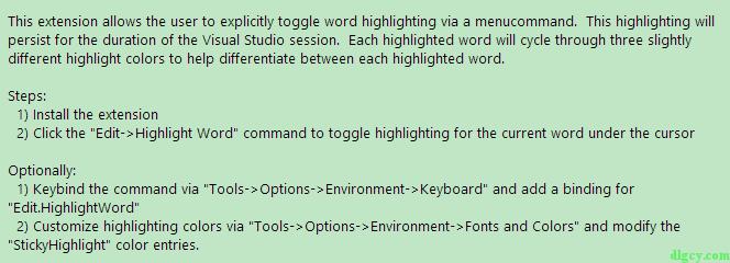 Visual Studio 2010 适用的高亮插件插图11