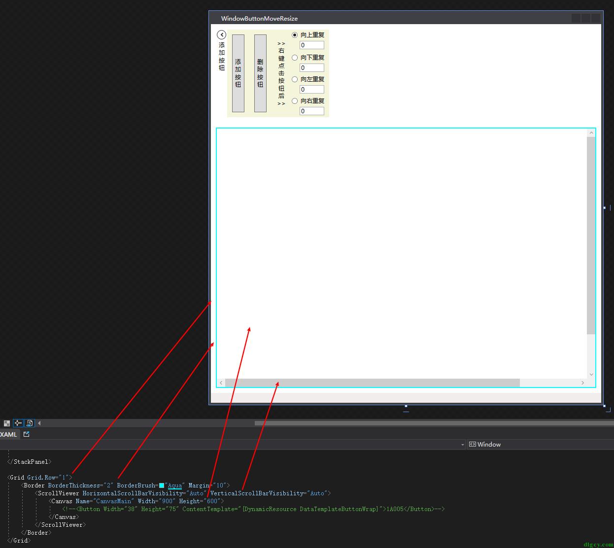 真・WPF 按钮拖动和调整大小插图