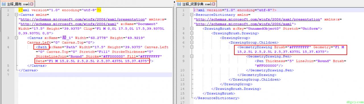 WPF 使用 Expression Design 画图导出及使用 Path 画图插图9