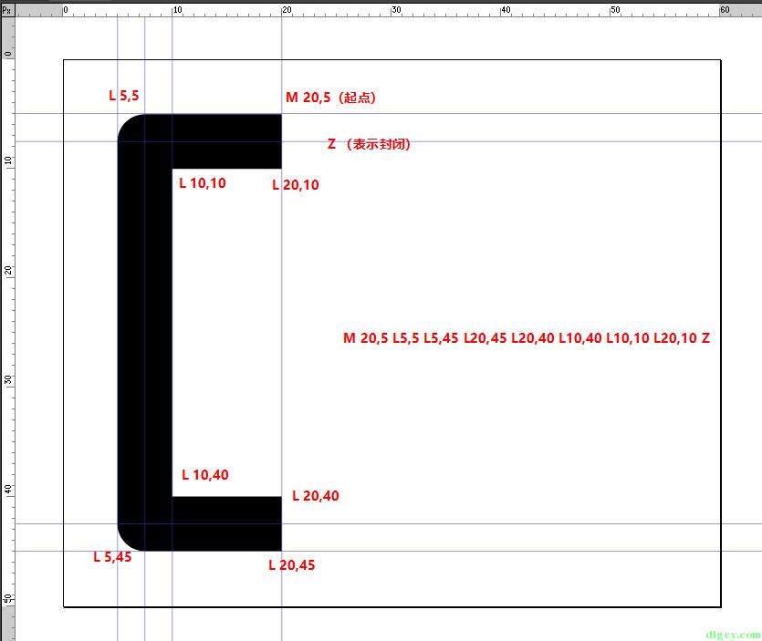 WPF 使用 Expression Design 画图导出及使用 Path 画图插图16