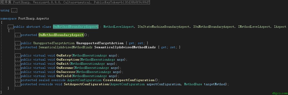 PostSharp 中 AOP 功能的简单使用插图2