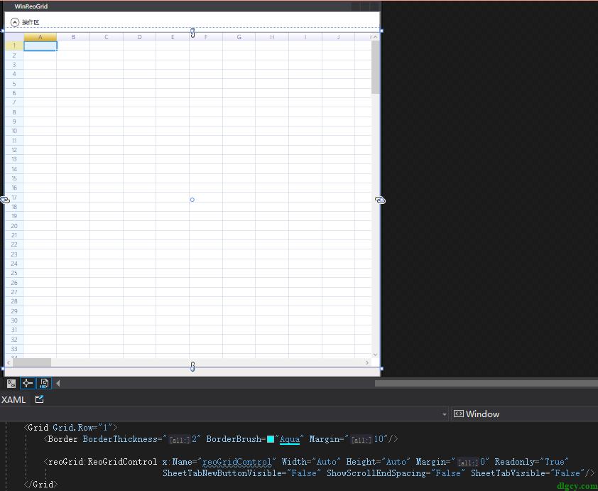 WPF 表格控件 ReoGrid 的简单使用插图2