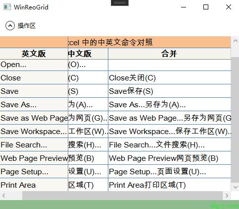 WPF 表格控件 ReoGrid 的简单使用插图8