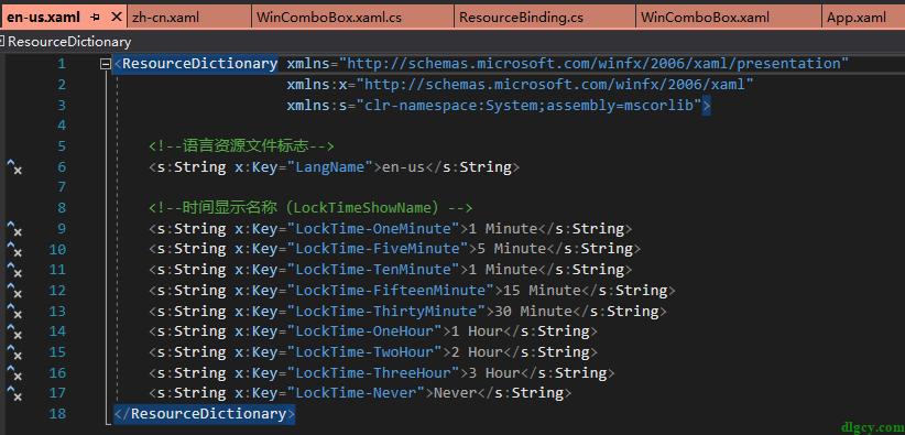 WPF ComboBox 使用 ResourceBinding 动态绑定资源键并支持语言切换插图3