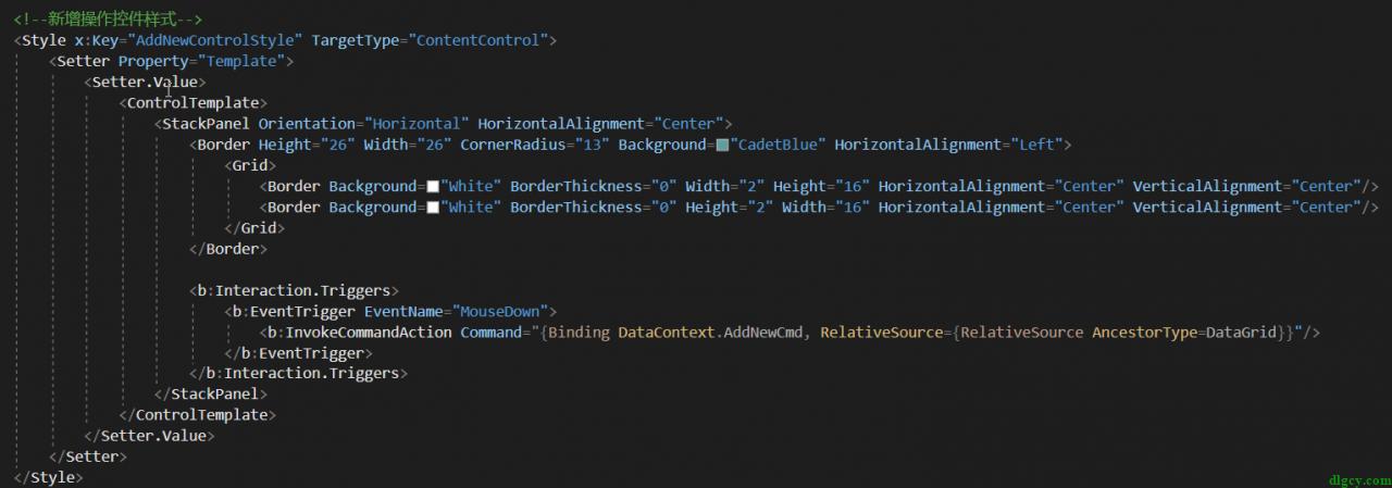 WPF DataGrid 通过自定义表头模拟首行固定插图5