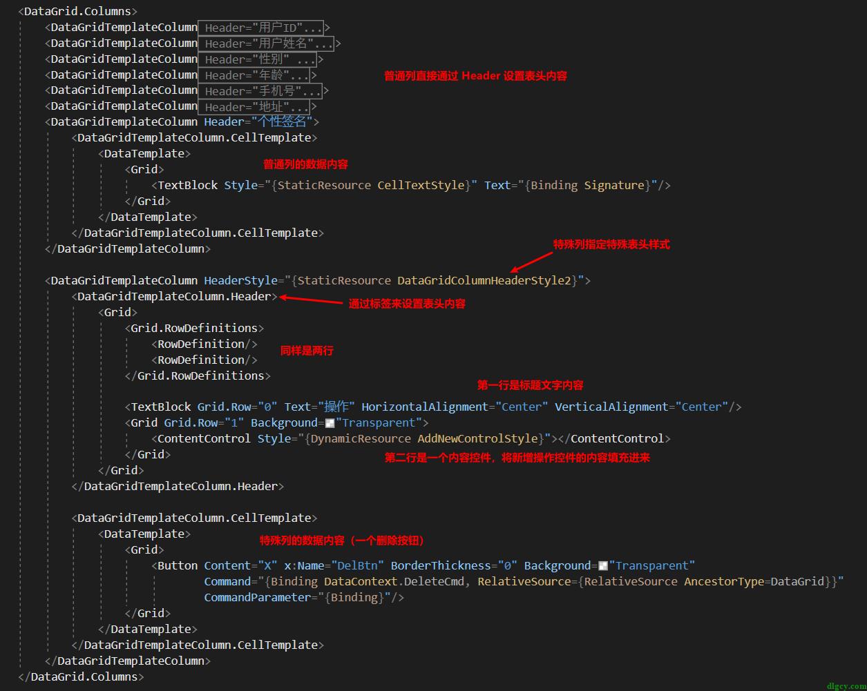 WPF DataGrid 通过自定义表头模拟首行固定插图6
