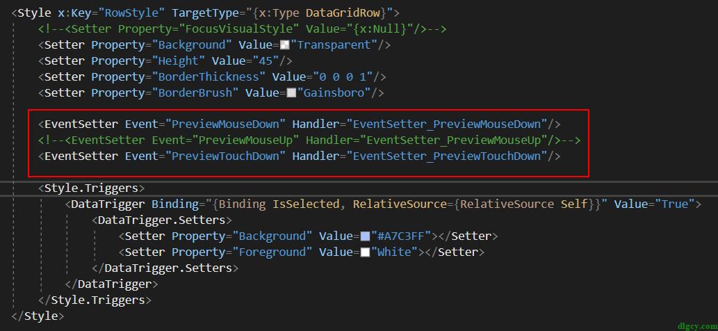 WPF 触屏事件后触发鼠标事件的问题及 DataGrid 误触问题插图1